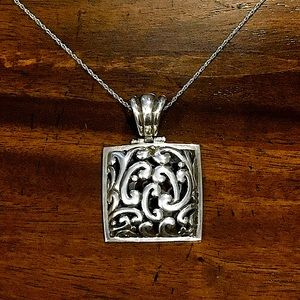 BARSE Scroll Pendant & Sterling Silver Necklace